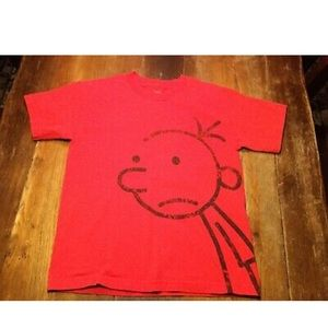 Diary Wimpy Kid Boys Red Cotton T-Shirt Sz L 10-12